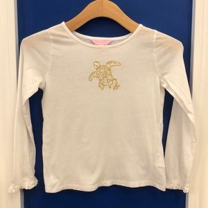 Lilly Pulitzer mimi longsleeve turtle graphic M